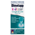 Dimetapp Cough & Cold Kids 6 Years & Over Colour Free FRONT