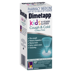 Dimetapp Cough & Cold Kids 6 Years & Over Colour Free SIDE