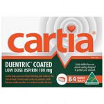 Cartia 100mg – 84 Tablets front