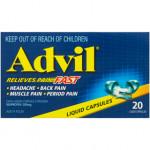 Advil Liquid Capsules 20 Pack front