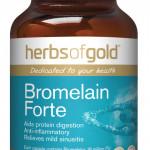 Herbs of Gold Bromelain Forte 60 Vege Capsules front