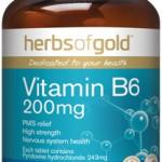 Herbs of Gold Vitamin B6 200mg front