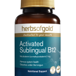 Herbs of Gold Activated Sublingual B12 75 Tablets front
