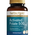 Herbs of Gold Activated Folate 500 60 Veg capsules front