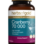 HERBS GOLD CRANBERRY 70 000 50TABLETS front