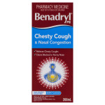 Benadryl Pe Chesty Cough & Nasal Congestion Non Drowsy Berry Flavour 200mL FRONT
