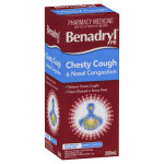 Benadryl Pe Chesty Cough & Nasal Congestion Non Drowsy Berry Flavour 200mL FRONT SIDE