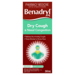 Benadryl PE Dry Cough & Nasal Congestion Non Drowsy Berry Flavour 200mL front