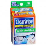 CLEARWIPE LENS CLEANER ANTI FOG WIPES 20S